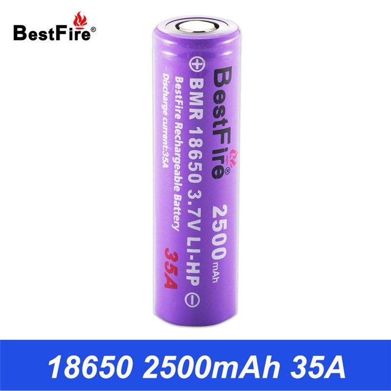18650 Batterie 2500 mAh 35A Li-ion 3.7 V Rechargeable Batterie 18650 pour E Cigarette Vaporisateur Boîte Mod Kit VS VTC6 INR18650 VTC5A B002