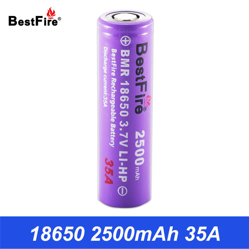 18650 Battery Bestfire Rechargeable Batteries Li-ion 3.7V 2500mAh 35A Power Battery for Flashlight Vape Mod Lithium Bateria B002