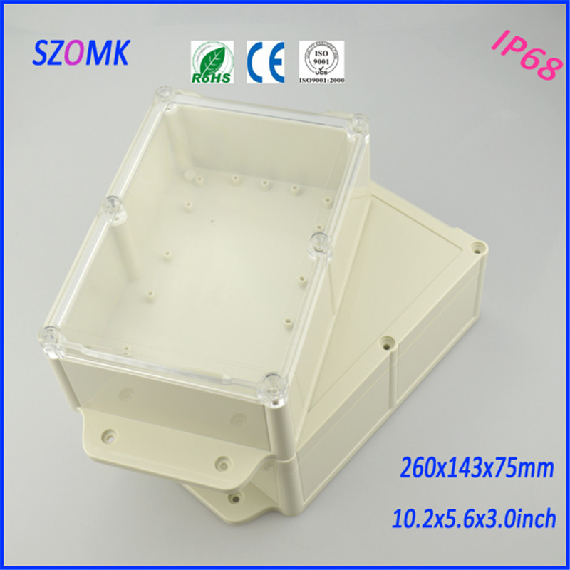transparent cover plastic enclosure for electronics jucntion housing (1 pcs) 260*143*75mm waterproof wall enclosure transparent cover enclosure plastic waterproof plastic housing 1 pcs 284 144 90mm distribution box project case