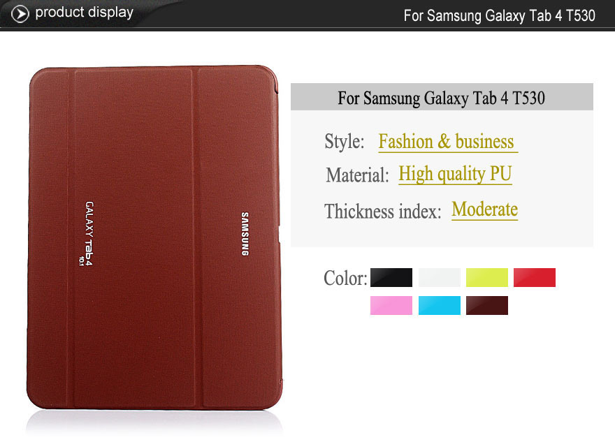Original 1:1 Case for Samsung Galaxy Tab 4 10.1 T530/T531/T535 Skin Protective Tablet PU Leather Case Cover  For Samsung SM-T530 pu leather tablet case cover for samsung galaxy tab 4 10 1 sm t531 t530 t531 t535 luxury stand case protective shell 10 1 inch
