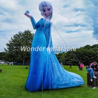 Hot selling beautiful giant inflatable princess cartoon inflatable girl for party event decoration