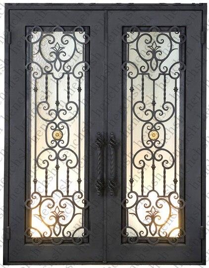 Porte française cadre porche portes d'entrée porte principale coulissante