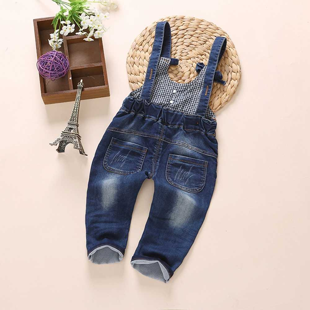 Chumhey 1-5 Jahre Baby Strampler Frühjahr Weichem Denim Jeans Bib Mädchen Overalls Kinder Hosen Hosen Babe Kleidung Kinder kleidung 2 3