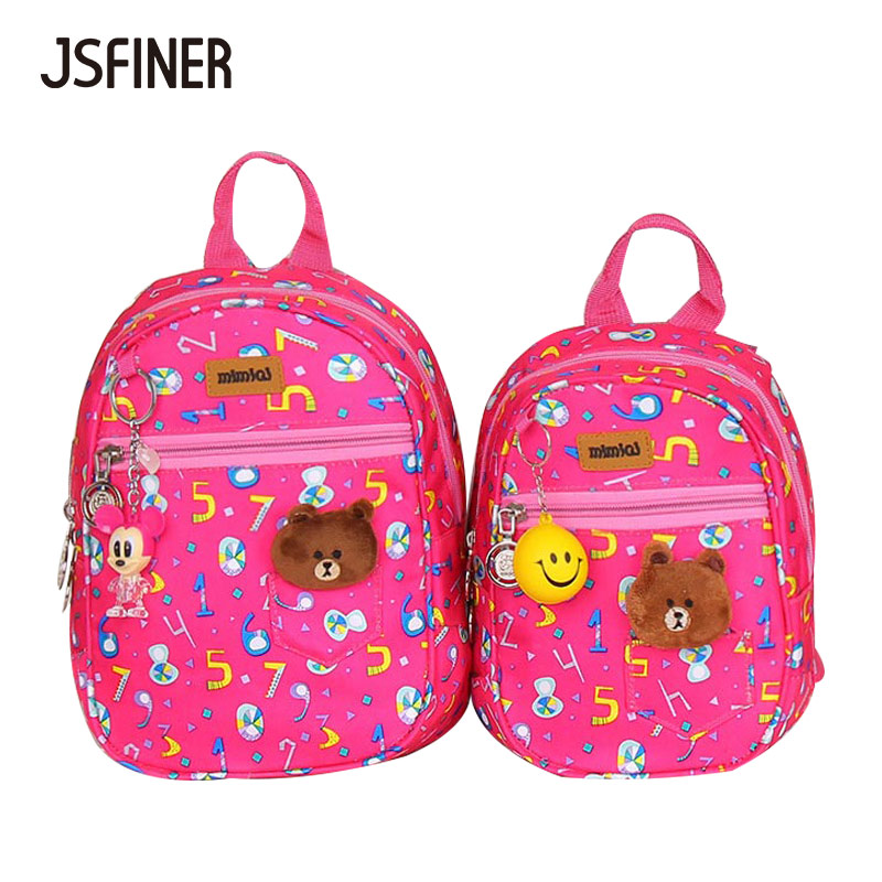 JSFINER Fashion Children School Bags Cartoon 2018 Backpack Baby Toddler Kids Book Bag Ki ...