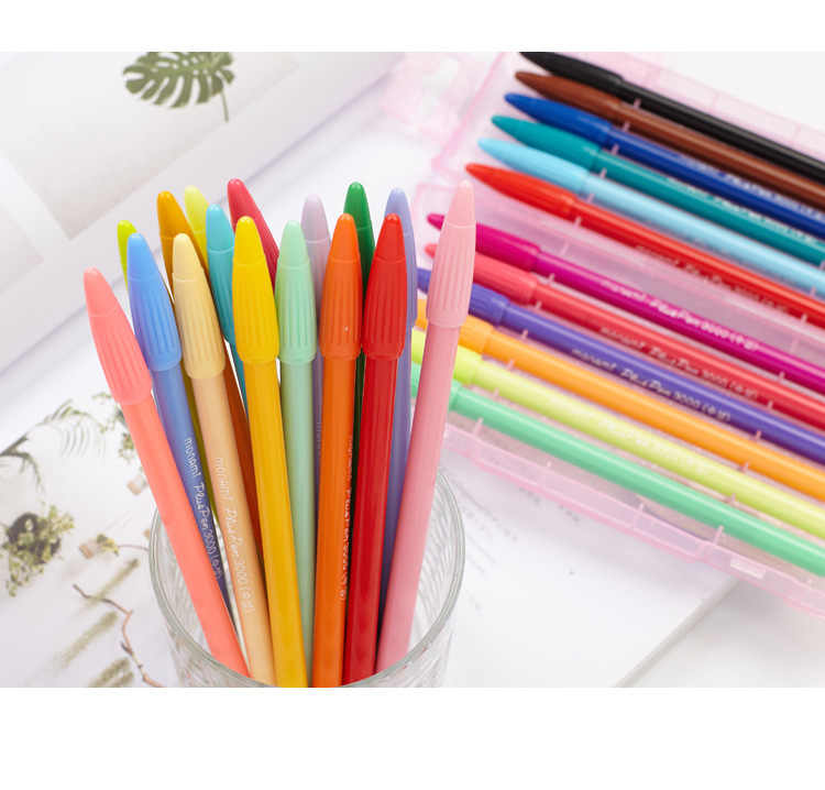 Monami 3000 Felt Tip Drawing Pen 0.3mm Watercolor Pen Fineliner Scrapbook Color Ink Design Pen Cute Stationary Kawaii Gel Pens