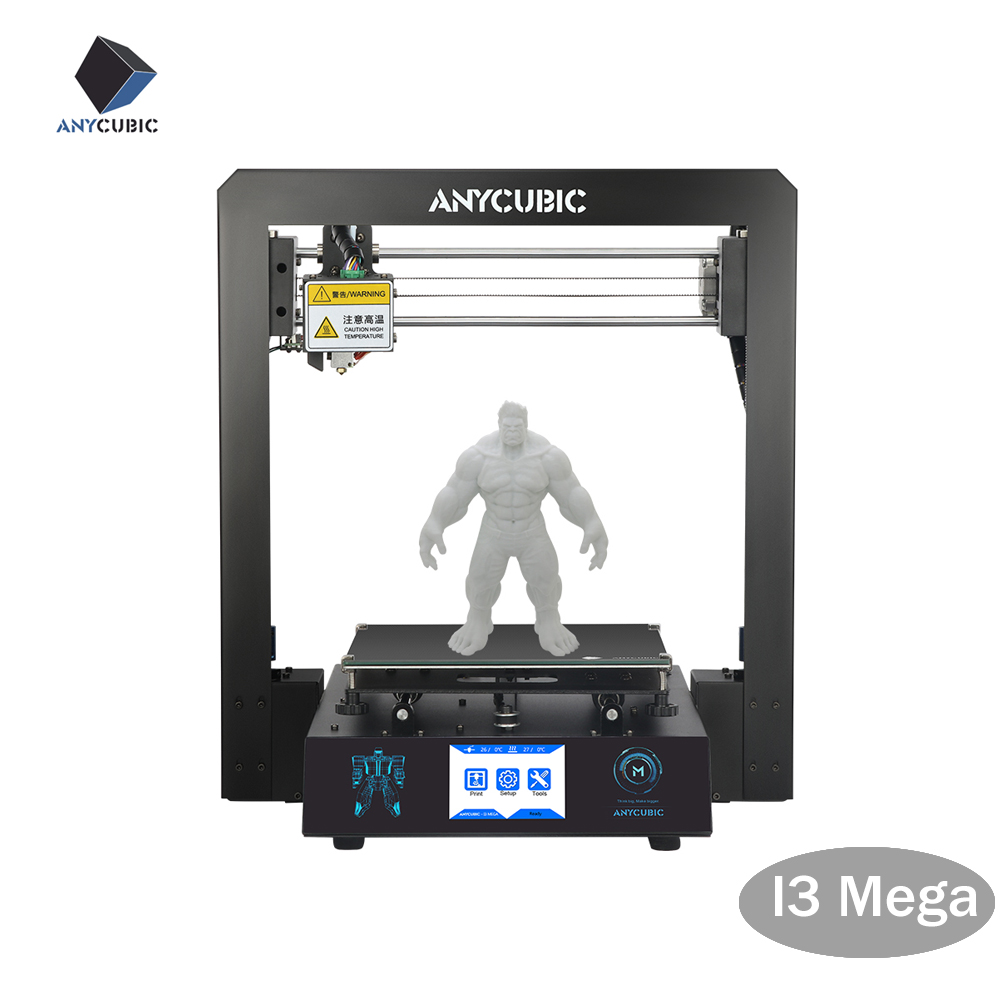 ANYCUBIC 3D Printer I3 Mega Plus Size Full Metal Frame Platform Desktop Industrial Grade High Precision 3d Drucker Kits Filament-in 3D Printers from Computer & Office    2