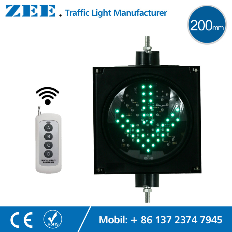 Remote Controller 200mm LED Traffic Light Red Cross Green Arrow LED Traffic Signals Wireless Controlled led electronic traffic lane control signal traffic lane indicator light with red cross