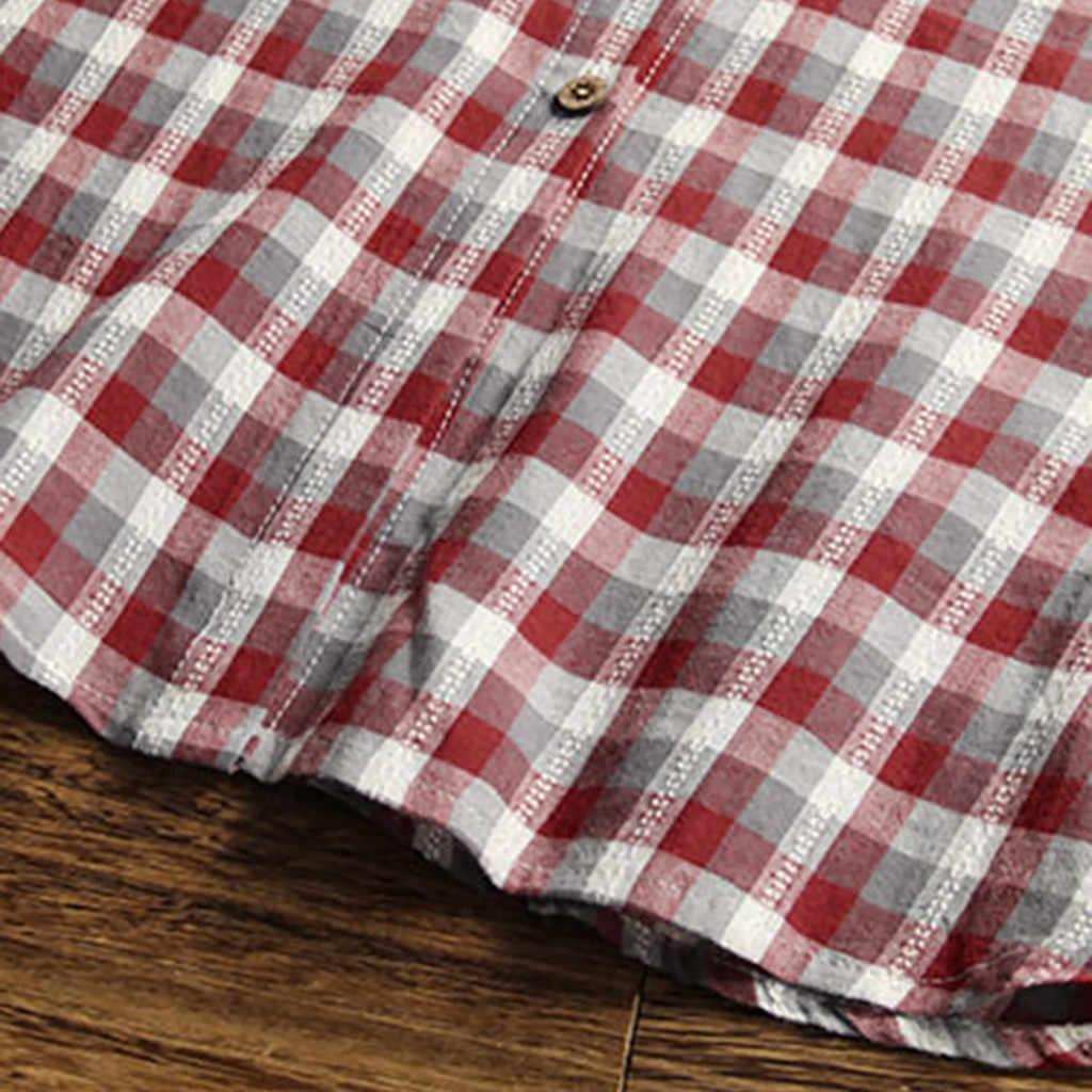Женское клетчатое Повседневное платье с длинным рукавом, платье с карманами и пуговицами, мини-платье-рубашка, большие размеры, женские винтажные платья