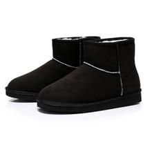 Mode Botas Frauen Stiefel Feste Warme Winter Schnee Kurze Stiefel Runde Kappe Flache Plattform Botas Femininas Casual Billig Verkauf
