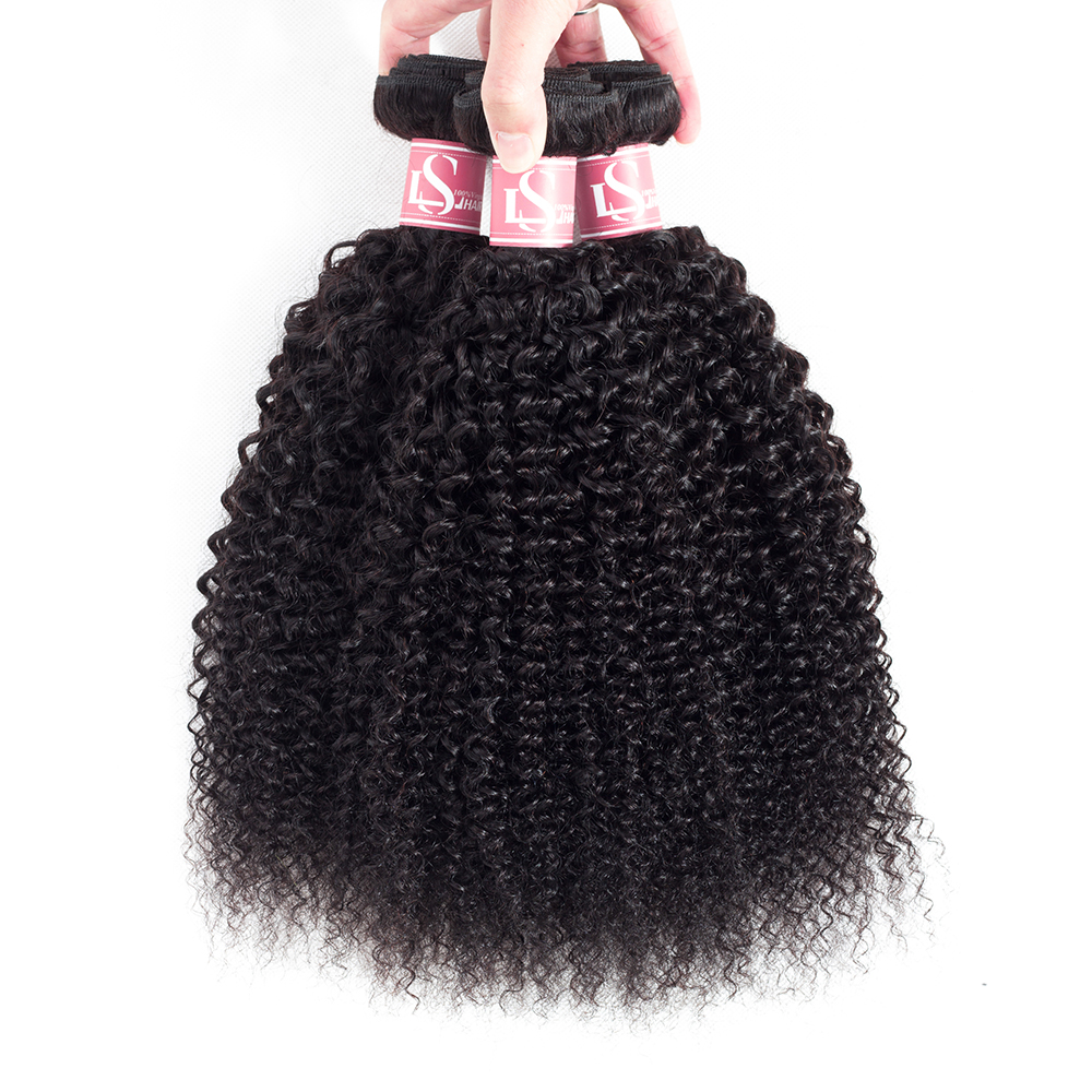 LS Hair 3Pcs/Lot Brazilian Afro Kinky Curly Hair Weave 3 Bun