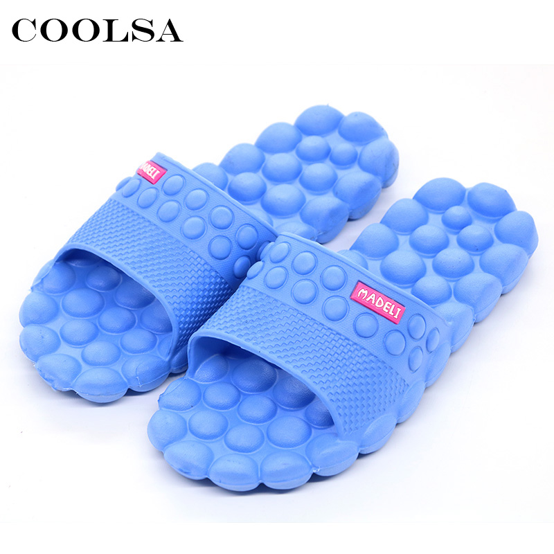 Coolsa New Summer Women Sandali da spiaggia Indoor Stone Massage Pantofole Flat Antiscivolo Slides Home Pantofole Girls Bathroom Infradito