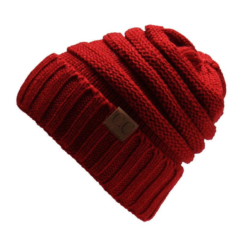 CUHAKCI 2017 Hip Hop Hat Winter Warm Skullies Woolen Knited Caps Bonnet Warm Fleece Hat Female Beanies Fashion Womens Hats skullies
