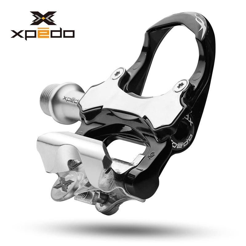 Wellgo XRF07MC 235g pédales de vélo de route en alliage de magnésium avec 2 paires de crampons compatibles avec keo pédale auto-bloquante
