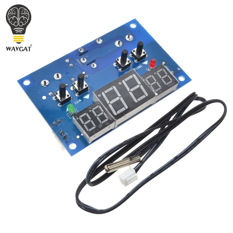 WAVGAT 1PCS DC12V thermostat Intelligent digital thermostat temperature controller With <font><b>NTC</b></font> <font><b>sensor</b></font> <font><b>W1401</b></font> led display image