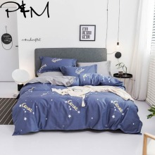 PAPA&MIMA Cartoon style constellation print bedding sets cotton Twin Queen Size duvet cover bedsheet pillowcases drop shipping