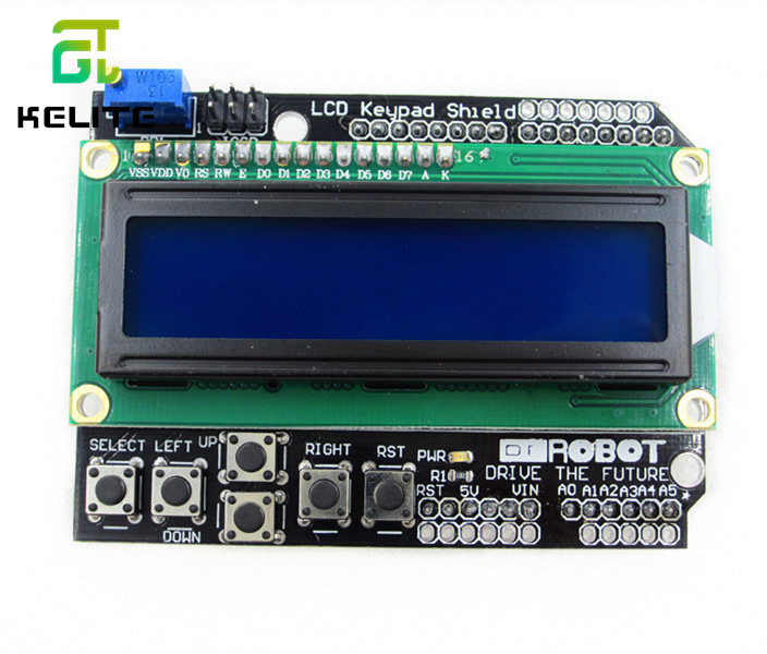 1pcs LCD Keypad Shield LCD1602 LCD 1602 Module Display For Ardu ATMEGA328 ATMEGA2560 raspberry pi UNO blue screen b101xt01 1 m101nwn8 lcd displays