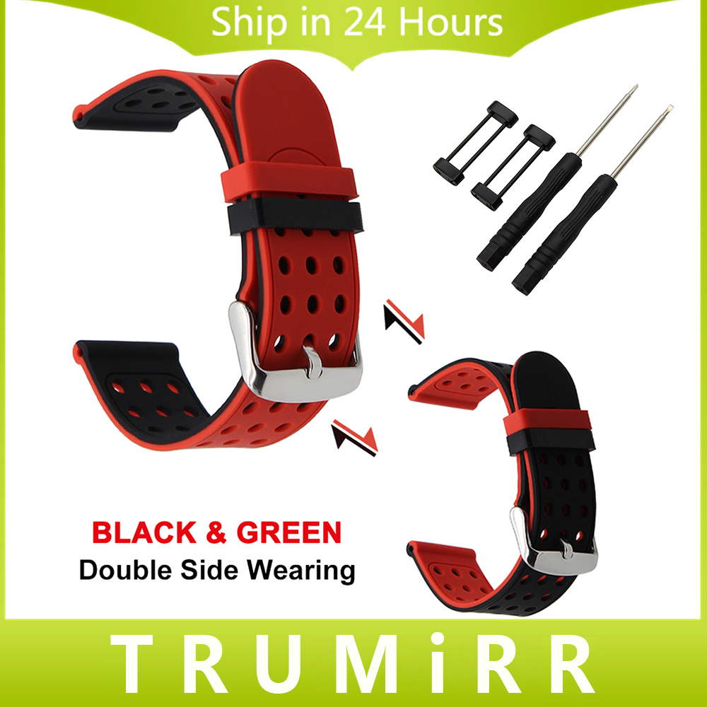 24mm Silicone Rubber Watchband Double Side Wearing Strap for Suunto Core Watch Band Wrist Belt Bracelet + Lug Adapters + Tool 22mm 24mm silicone rubber watchband double side wearing strap for diesel men women watch band wrist belt bracelet black blue red