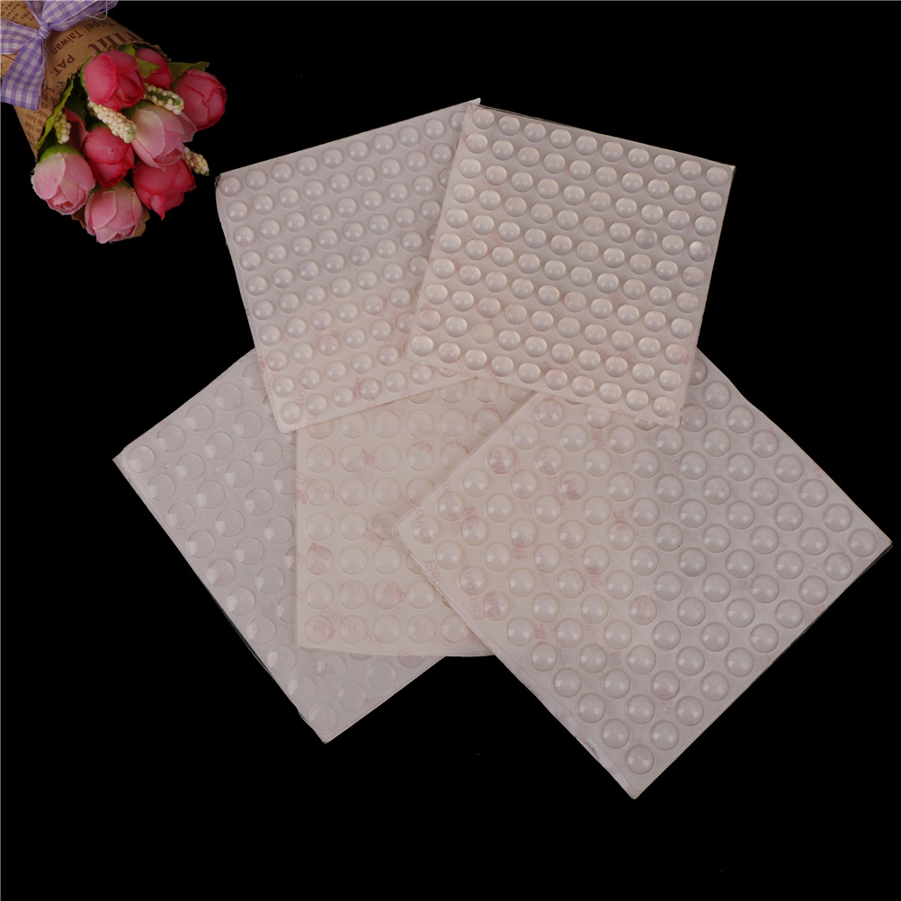 5Sizes Self Adhesive Rubber Feet Pad Silicone Transparent Bumpers Door Buffer Pad Self-adhesive Damper Feet Pads 100pcs/sheet 100pcs adhesive silicone semicircle feet clear anti slip silica gel rubber bumper damper shock absorber self adhesive feet pads