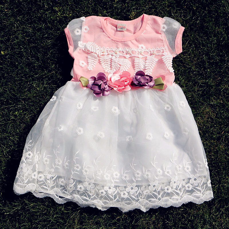 New Children Girls Dress Summer 2016 Kids Dresses For Girls Clothes Cute Baby Flowers Party Dresses Fashion Princess Costume new girls flowers dress for wedding and party summer baby clothes princess kids dresses for girl children costume 3 10t w1625133