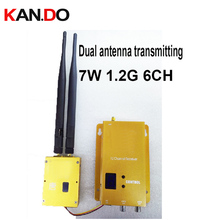 Antena dupla L-gama 7 W boa ventilação 1.2G transceiver CCTV transmissor 1.2G transmissão de imagem para FPV zangão transmissor