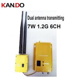 dual antenna L-range 7W good ventilation 1.2G transceiver CCTV transmitter 1.2G image transmission for FPV drone transmitter