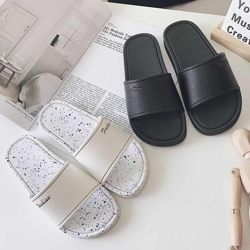 Concise designer nordic indoor anti-skid slippers leisure soft heel girls slides flip flops mujer summer mules shoes woman 2018