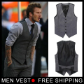 Men's Formal vest Beckham vest Men casual suit vest Tank top vest Undershirt beer for Male singlet size M L XL XXL XXXL