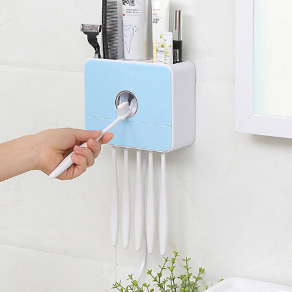 Automatic Toothbrush Sterilizer Toothpaste Dispenser UV Light Toothpaste Squeezer Toothbrush Holder  Cleaner for Bathroom Hotel(China)