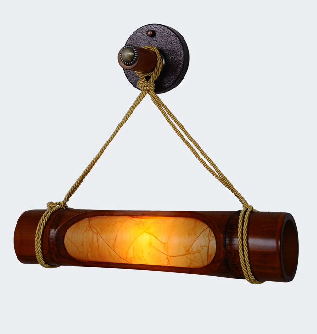 Chinese Style Antique Living Room Bamboo Wooden Wall Lamp Creative Restaurant Corridor Wall Lamp Free Shipping chinese style wooden 1 2 3 heads lamps chinese restaurant new classical restaurant chandelier wooden sheepskin chandelier