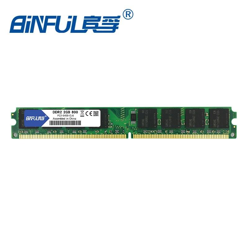 Binful DDR2 2GB 800MHz PC2-6400 4GB (2Gx2) Memory Ram Memoria - Arvuti komponendid - Foto 3