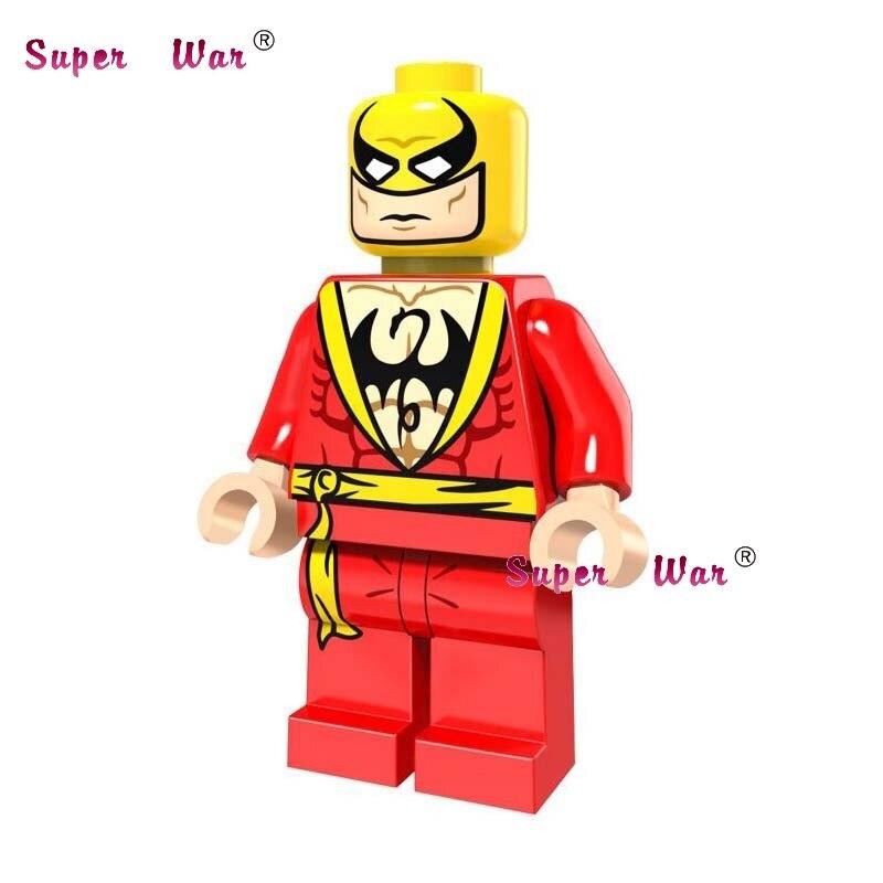 20pcs star wars super hero comics model kits Avengers Red Iron Fist building blocks bricks classic learning education baby toy