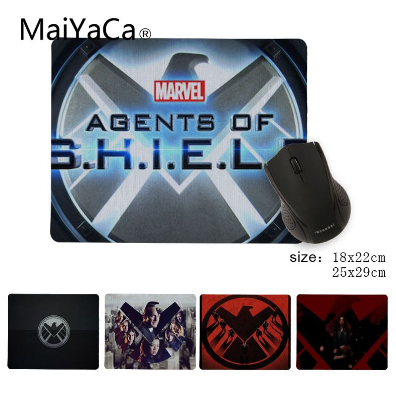 MaiYaCa Cool New Agents of S.H.I.E.L.D. Durable Rubber Mouse Mat Pad Size 25x29cm 18x22cm Rubber Mousemats