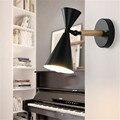 Лофт стиль железа отрегулировать Современные светодиодные Настенные светильники промышленные ветровые настенные бра дерево спальня прик...