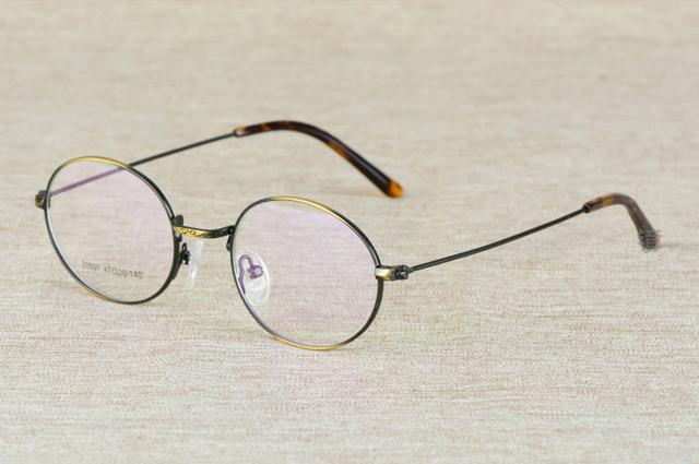 New Retro Rodada Homens Sem Aro Completo Armações de Óculos de Olho para As Mulheres Armações de óculos oculos de grau YS-32001 3 Vinho Cor Vermelho Prata