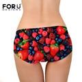 Forudesigns marca mulheres seamless briefs feminino underwear thong spandex lingerie morango impressão virilha underwear calcinha