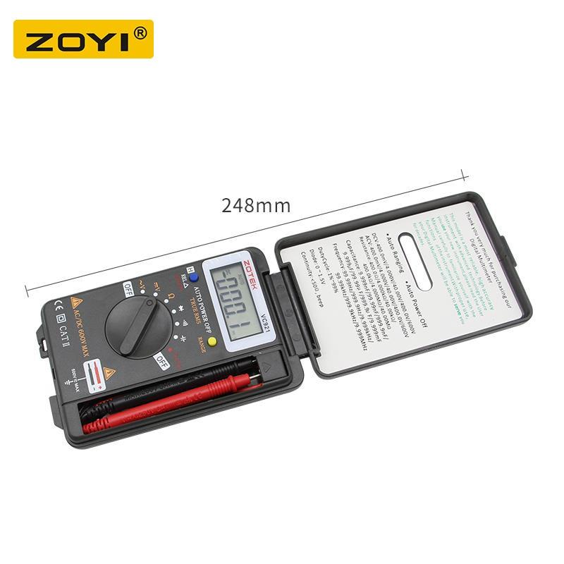 Image 4 - Digital Multimeter ZOYI VC921 3 3/4 Personal Mini Digital Multimeter Handheld Pocket capacitance resistance frequency tester-in Multimeters from Tools