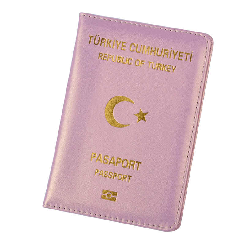 Klsyanyo for Turkey Passport Holder PU Leather Covers for Turks Men Women Passports Organizer for Travelling