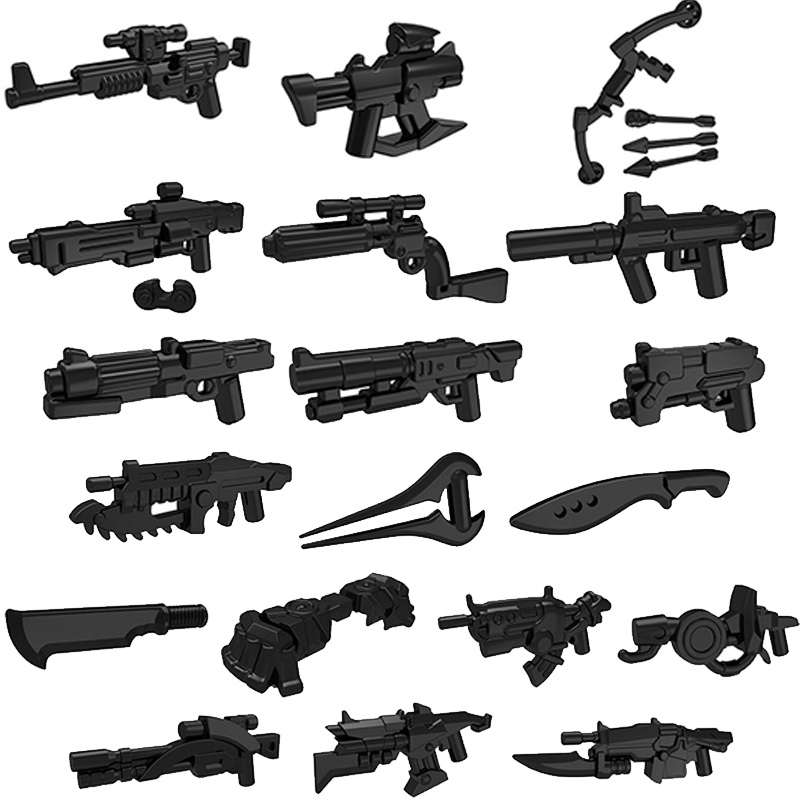 10pcs/lot Star Halo Science Fiction Mini War Future Weapons Guns Knife Building Block Gifts Toys For Children PGPJ0025