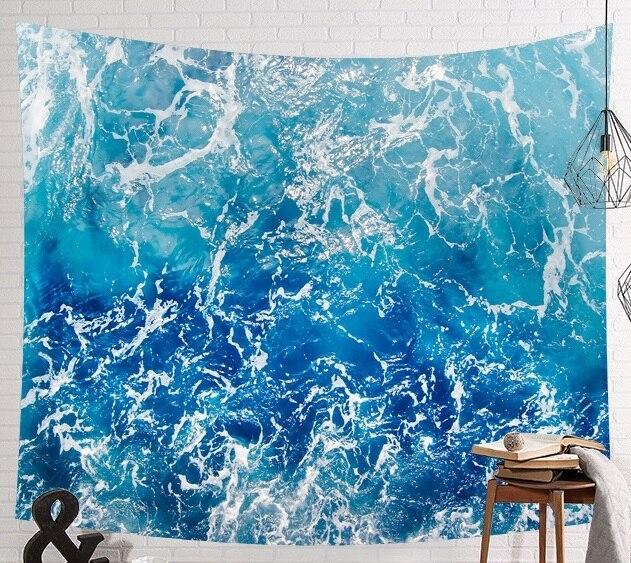 CAMMITEVER tapiz de elefante indio de mar azul, estampado de colores, decoración de Mandala, Alfombra de pared Bohemia, esterilla de tela de playa