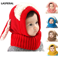 LASPERAL Novelty Wool Hat Cute Child Puppy Cashmere Ears Beanie Shawl Hat One-piece Neck Warm Winter Hat For Boy & Girl Baby