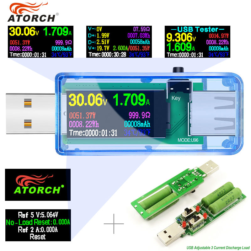 10/13 in 1 USB tester DC Digital voltmeter amperimetro voltage current volt meter ammeter detector power bank charger indicator