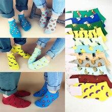 2016 Fashion Men Women Fun Fruit Cotton Sports Short Socks Couple Children 11 Colors