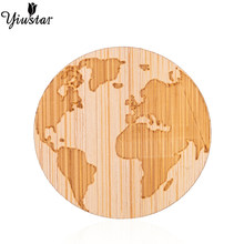 Yiustar Simple Sweet Elegant Mini Globe Map Brooch Wood Lapel Pin Charm Generous Cute Round for Women Kids Girls Family Gifts(China)