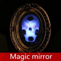Halloween costumes Secret room escapes props Ghost house, horror skeleton Sound control Magic induction photo frame Mirror