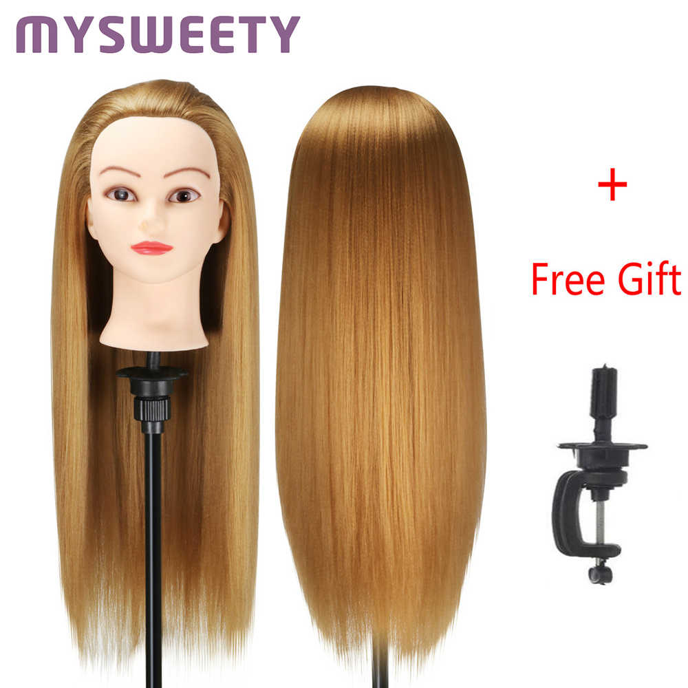 65cm Hairdressing Dolls Head Hair Female Mannequin Hairdressing Styling Professional Training Head Mannequin Head