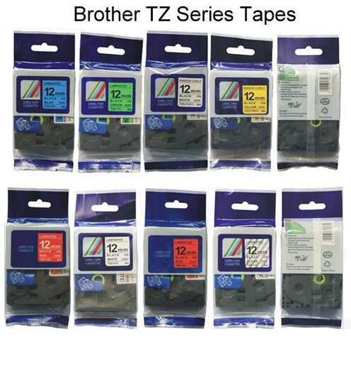 <font><b>19</b></font> types <font><b>mix</b></font> <font><b>colors</b></font> 12mm Tze Tz <font><b>Tape</b></font> Compatible Brother Ptouch Cartridge Label Maker <font><b>Tape</b></font>