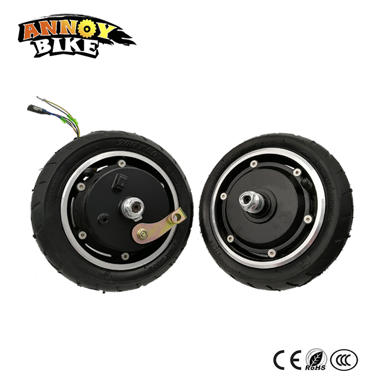 24V36V48v 8 BLDC Gearless Hub Motor 8 inch Wheel With Inflatable Tyre Drum Brake For Electric Folding Scooter Home Scooter DIY economic multifunction 60v 500w three wheel electric scooter handicapped e scooter with powerful motor