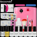 New Nail Art Manicure Tools 6 Color 7ml soak off Gel nail + 36W UV Lamp base top coat polish with Remover professional set