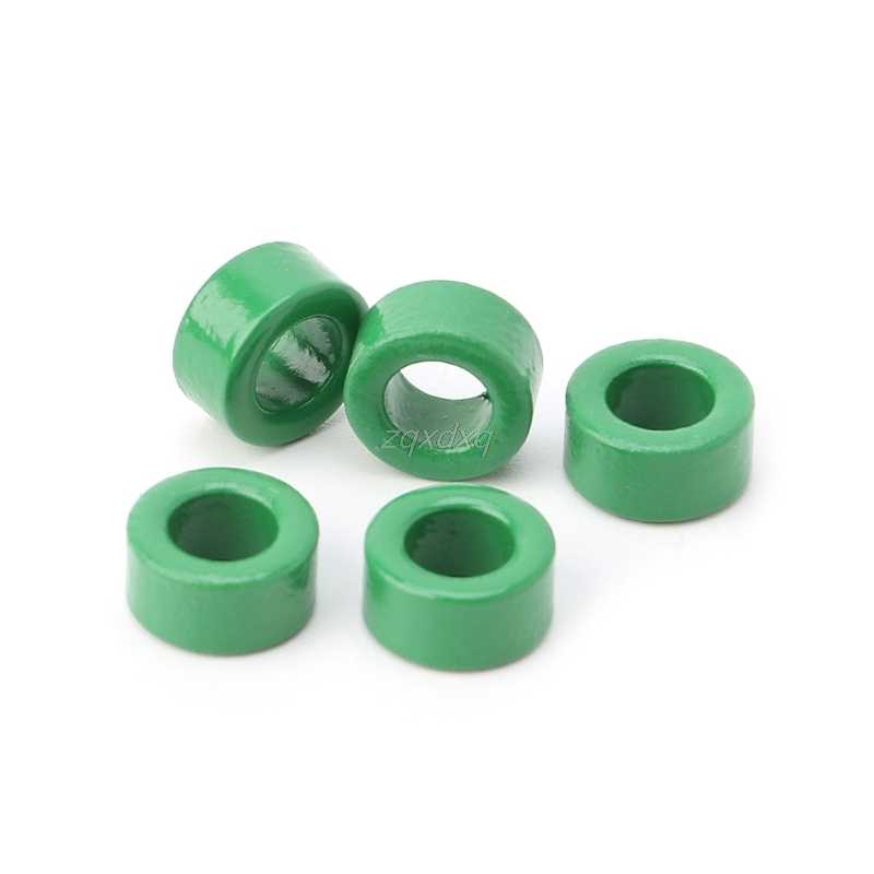 10Pcs Inductor Coils Green Toroid Ferrite Cores anti-interference Filter  Rings AUG_21 Dropship