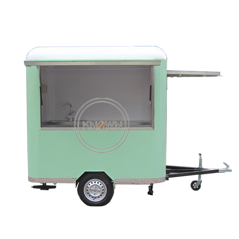 KN-220R With More Better Material For Europe Standard Mobile Towable Food/ice Cream/bin/flower/snack Trailer/cart Free Shipping